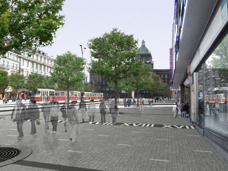 Návrat tramvají na Václavské náměstí